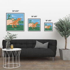 Ezposterprints - T-Rex - Prehistoric Animals, Dinosaur Illustrations Series ambiance display photo sample