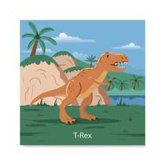 Ezposterprints - T-Rex - Prehistoric Animals, Dinosaur Illustrations Series