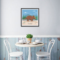 Ezposterprints - Triceratops - Prehistoric Animals, Dinosaur Illustrations Series - 16x16 ambiance display photo sample
