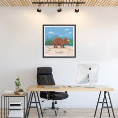 Ezposterprints - Triceratops - Prehistoric Animals, Dinosaur Illustrations Series - 24x24 ambiance display photo sample