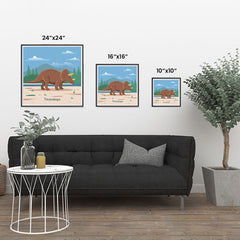 Ezposterprints - Triceratops - Prehistoric Animals, Dinosaur Illustrations Series ambiance display photo sample