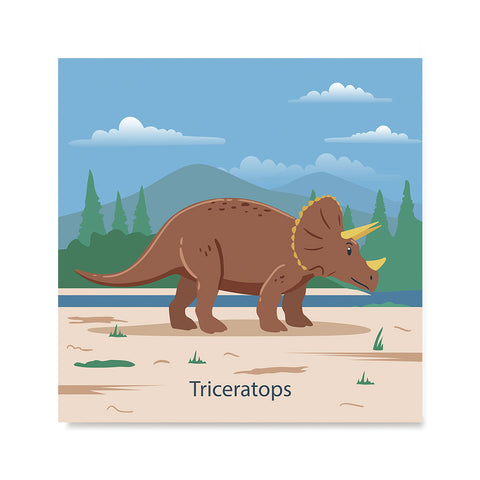Ezposterprints - Triceratops - Prehistoric Animals, Dinosaur Illustrations Series