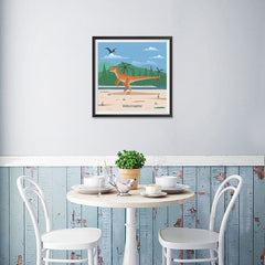 Ezposterprints - Velociraptor - Prehistoric Animals, Dinosaur Illustrations Series - 16x16 ambiance display photo sample