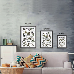 Ezposterprints - Aquatic Dinosaurs - The World's Dinosaur Families Posters Collection ambiance display photo sample