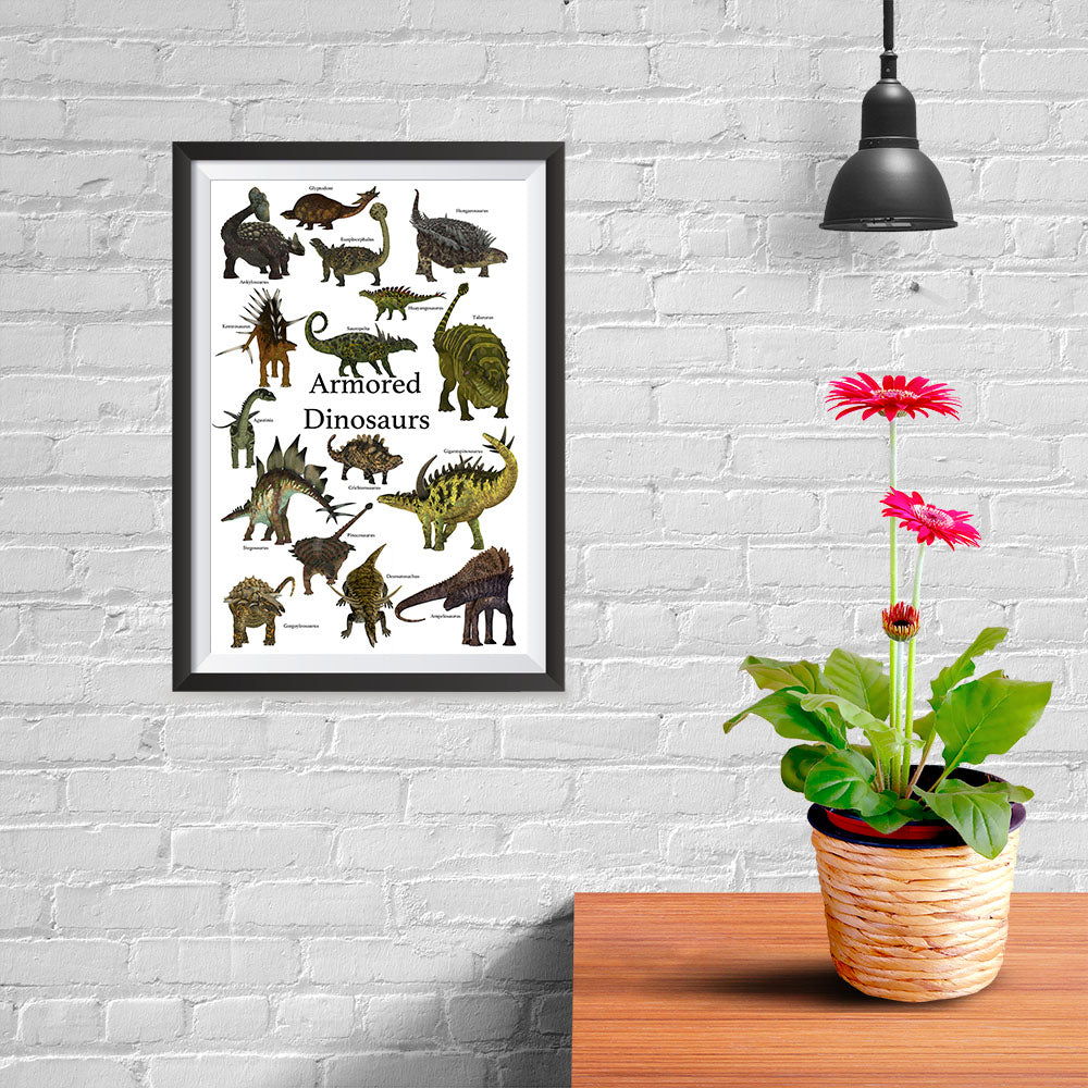 Ezposterprints - Armored Dinosaurs - The World's Dinosaur Families Posters Collection - 08x12 ambiance display photo sample