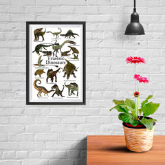 Ezposterprints - Triassic Dinosaurs - The World's Dinosaur Families Posters Collection - 08x12 ambiance display photo sample