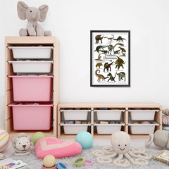 Ezposterprints - Triassic Dinosaurs - The World's Dinosaur Families Posters Collection - 16x24 ambiance display photo sample