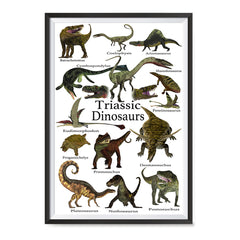 Ezposterprints - Triassic Dinosaurs - The World's Dinosaur Families Posters Collection ambiance display photo sample