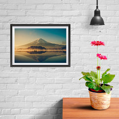 Ezposterprints - Mt Fuji at Dusk - 12x08 ambiance display photo sample