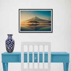 Ezposterprints - Mt Fuji at Dusk - 18x12 ambiance display photo sample