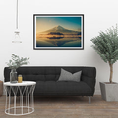 Ezposterprints - Mt Fuji at Dusk - 36x24 ambiance display photo sample