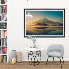 Ezposterprints - Mt Fuji at Dusk - 48x32 ambiance display photo sample