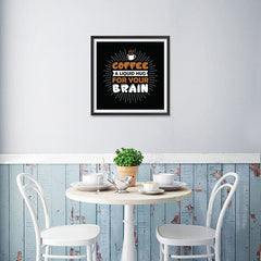 Ezposterprints - Coffee a Liquid Hug For Your Brain - 16x16 ambiance display photo sample