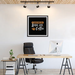 Ezposterprints - I Raise Boys On Love and Coffee - 24x24 ambiance display photo sample