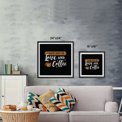 Ezposterprints - I Raise Boys On Love and Coffee ambiance display photo sample
