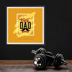Ezposterprints - Best Dad Ever | Father's Day Posters - 12x12 ambiance display photo sample