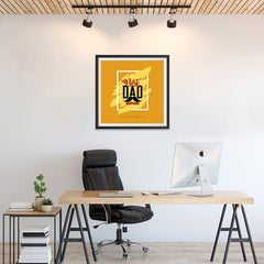 Ezposterprints - Best Dad Ever | Father's Day Posters - 24x24 ambiance display photo sample