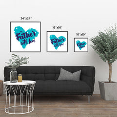 Ezposterprints - To Father, With Love | Father's Day Posters ambiance display photo sample