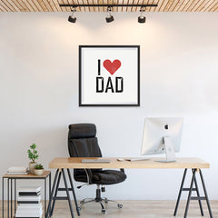 Ezposterprints - I Love Dad | Father's Day Posters - 24x24 ambiance display photo sample