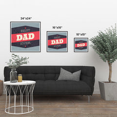 Ezposterprints - Best Dad Ever 3 | Father's Day Posters ambiance display photo sample
