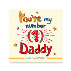 Ezposterprints - You're My Number 1 Daddy | Father's Day Posters