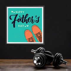 Ezposterprints - Happy Father's Day 2 | Father's Day Posters - 12x12 ambiance display photo sample