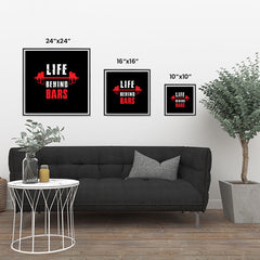 Ezposterprints - Life Behind Bars | GYM Motivation Quotes ambiance display photo sample