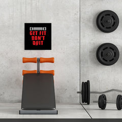Ezposterprints - Get Fit Don't Quit | GYM Motivation Quotes - 16x16 ambiance display photo sample