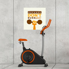 Ezposterprints - Excuses Don't Burn Calories | GYM Motivation Quotes - 24x24 ambiance display photo sample