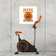 Ezposterprints - Make Muscles Not Excuses | GYM Motivation Quotes - 24x24 ambiance display photo sample