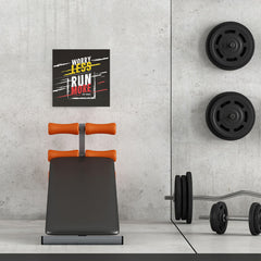 Ezposterprints - Worry Less Run More, Keep Moving | GYM Motivation Quotes - 16x16 ambiance display photo sample