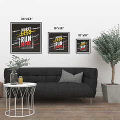 Ezposterprints - Worry Less Run More, Keep Moving | GYM Motivation Quotes ambiance display photo sample