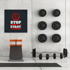 Ezposterprints - Stop Wishing Start Doing | GYM Motivation Quotes - 32x32 ambiance display photo sample