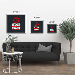 Ezposterprints - Stop Wishing Start Doing | GYM Motivation Quotes ambiance display photo sample