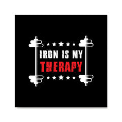 Ezposterprints - Iron is My Therapy | GYM Motivation Quotes