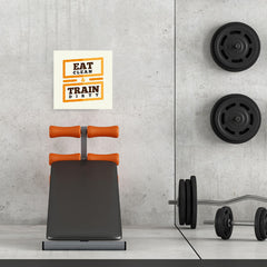 Ezposterprints - Eat Clean Train Dirty | GYM Motivation Quotes - 16x16 ambiance display photo sample