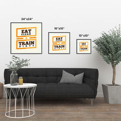 Ezposterprints - Eat Clean Train Dirty | GYM Motivation Quotes ambiance display photo sample
