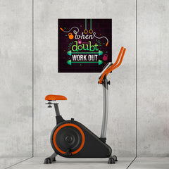 Ezposterprints - When in Doubt Work Out | GYM Motivation Quotes - 24x24 ambiance display photo sample