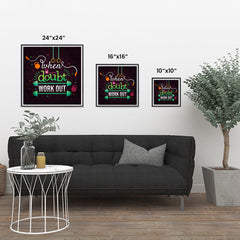 Ezposterprints - When in Doubt Work Out | GYM Motivation Quotes ambiance display photo sample
