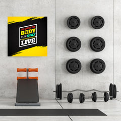 Ezposterprints - Take Care of Your Body | GYM Motivation Quotes - 32x32 ambiance display photo sample