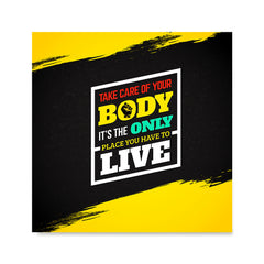 Ezposterprints - Take Care of Your Body | GYM Motivation Quotes