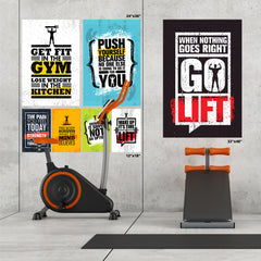 Ezposterprints - Push Yourself | Gym Inspiration Motivation Quotes ambiance display photo sample
