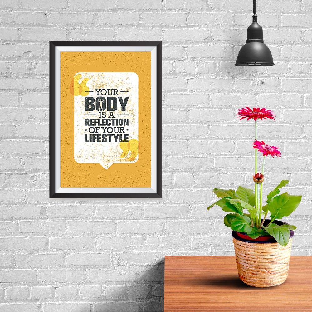 Ezposterprints - Your Body | Gym Inspiration Motivation Quotes - 08x12 ambiance display photo sample