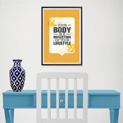 Ezposterprints - Your Body | Gym Inspiration Motivation Quotes - 12x18 ambiance display photo sample