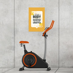 Ezposterprints - Your Body | Gym Inspiration Motivation Quotes - 16x24 ambiance display photo sample