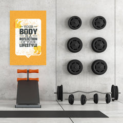 Ezposterprints - Your Body | Gym Inspiration Motivation Quotes - 32x48 ambiance display photo sample