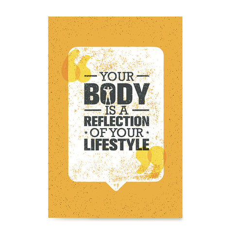 Ezposterprints - Your Body | Gym Inspiration Motivation Quotes