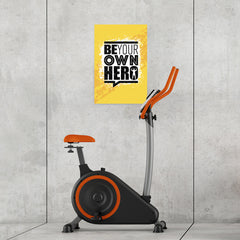 Ezposterprints - Be Your Own Hero | Gym Inspiration Motivation Quotes - 16x24 ambiance display photo sample