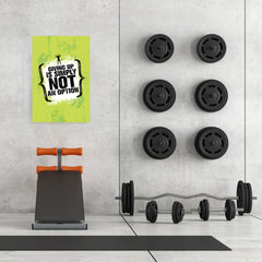 Ezposterprints - Giving Up | Gym Inspiration Motivation Quotes - 24x36 ambiance display photo sample