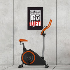 Ezposterprints - Go Lift | Gym Inspiration Motivation Quotes - 16x24 ambiance display photo sample